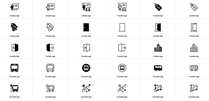 iconmonstr アイコンのバリエーション