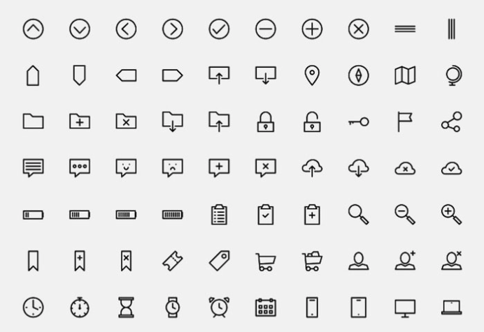 150 outlined icons 1