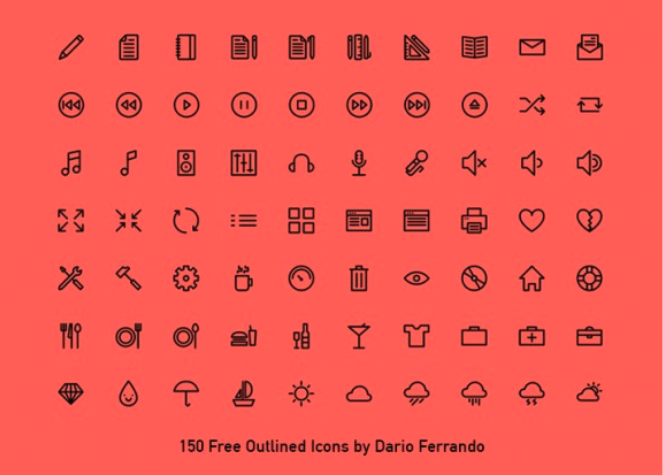 150 outlined icons 3