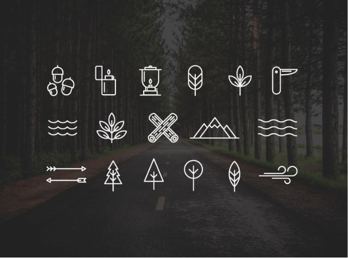 Free Wilderness/Camping Icons 1