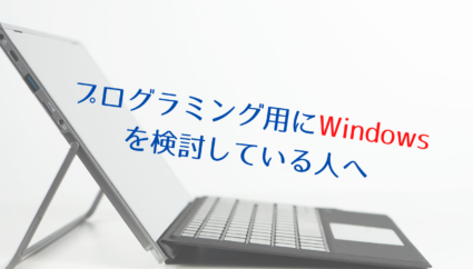 プログラミング用にWindowsを検討している人向けの情報まとめ